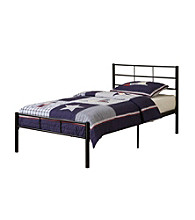 W. Designs Black Twin Metal Bed Frame