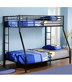 W. Designs Black Metal Twin & Double Bunk Bed