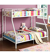W. Designs White Metal Twin & Double Bunk Bed