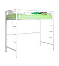 W. Designs White Metal Twin Loft Bunk Bed