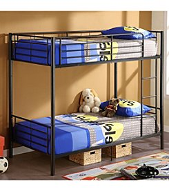 W. Designs Black Metal Twin Bunk Bed