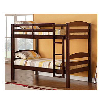 W. Designs Espresso Twin Solid Wood Bunk Bed