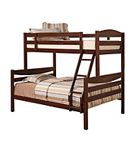 W. Designs Brown Twin and Double Solid Wood Bunk Bed