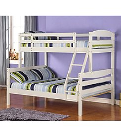 W. Designs White Twin and Double Solid Wood Bunk Bed