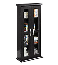 W. Designs Black Media Storage Tower