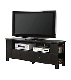 "W. Designs Black 60"" TV Console with Mount & Multipurpose Storage Areas"