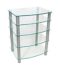 W. Designs Everest Clear Glass Multi-Level Component Stand