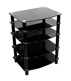 W. Designs Everest Black Multi-Level Component Stand
