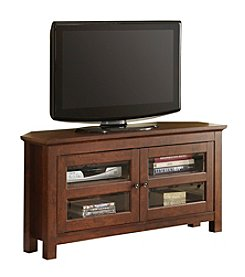 """W. Designs 44"""" Cordoba Traditional Brown Corner TV Console"""