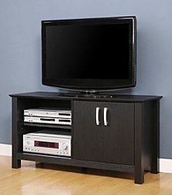"W. Designs 44"" Castillo Black Open Cabinet TV Console"