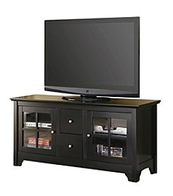 "W. Designs 52"" Matte Black Wood TV Console with Two Drawers"