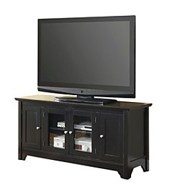 "W. Designs 52"" Matte Black Wood TV Console with Four Doors"