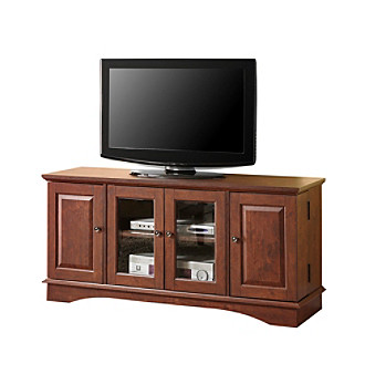 "W. Designs 52"" Wasatch Traditional Brown Media Storage TV Console"