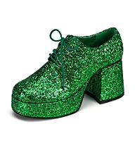 Adult Green Glitter Platform Shoes