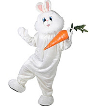 Easter Bunny Plush Economy Mascot Adult Costume