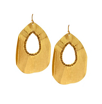 Jessica Simpson Goldtone Ruffle Earrings