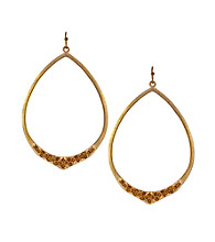 Jessica Simpson Goldtone Open Pointed Hoop Earrings