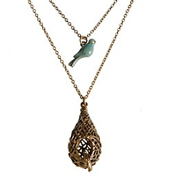 Lucky Brand® Bird Nest Double Pendant Necklace