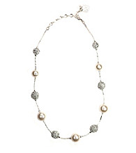 Anne Klein® Silvertone Illusion Necklace