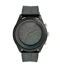 Unlisted by Kenneth Cole® Men's Grey Silicone Strap Watch