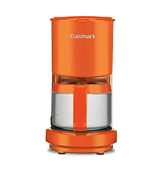 Cuisinart® 4-Cup Orange Coffeemaker with Stainless Steel Carafe
