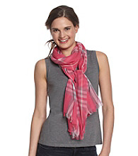V. Fraas Plaid Neckwrap