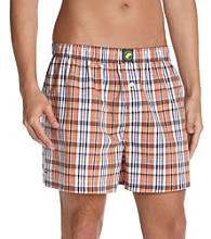John Bartlett Statements Men's Orange Plaid Boxers