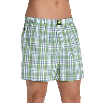 John Bartlett Statements Men's Green Plaid Boxer Shorts