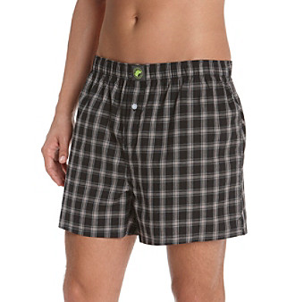 John Bartlett Statements Men's Black Plaid Boxer Shorts