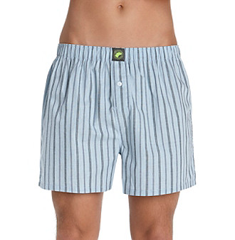 John Bartlett Statements Men's Blue Striped Boxer Shorts