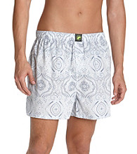 John Bartlett Statements Men's Blue Paisley Boxer Shorts