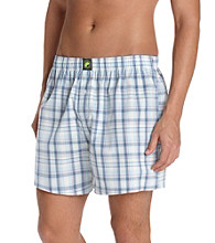 John Bartlett Statements Men's Blue Plaid Boxer Shorts