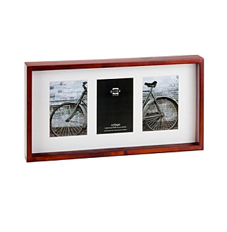 "Prinz® Espresso 3-Opening 4x6"" Shadow Box"