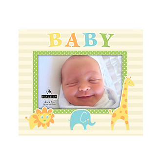 "Malden 4""x6"" ""Baby"" and Animals Picture Frame"