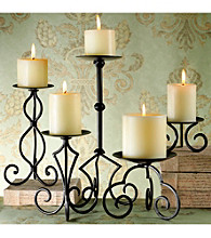 The Pomeroy Collection Castile Pillar Candleholder Set