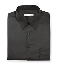 Geoffrey Beene® Men's Black Sateen Regular Fit Dress Shirt