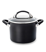 Circulon® Symmetry Black 4-Quart Covered Saucepot