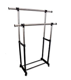 Ore International™ Double Levers Clothes Rack