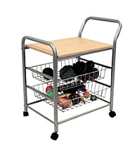 Ore International™ 3-Tier Metal Trolley