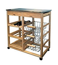 Ore International™ Wood Kitchen Cart