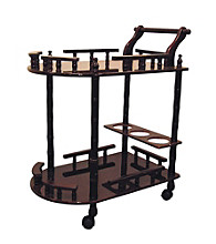 Ore International™ Cherry 2-Tier Wine Table
