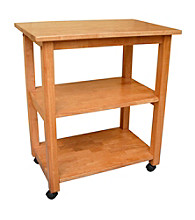 International Concepts Medium Oak Microwave Cart