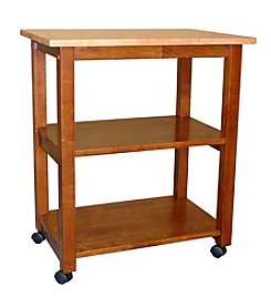International Concepts Cinnamon & Espresso Microwave Cart