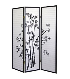 Ore International™ 3-Panel Bamboo Room Divider