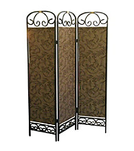 Ore International™ 3-Panel Antique Gold Room Divider
