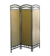 Ore International™ 3-Panel Pewter Room Divider