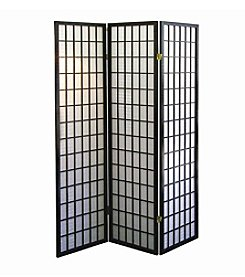 Ore International™ Black Panel Room Divider