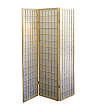 Ore International™ Natural Panel Room Divider