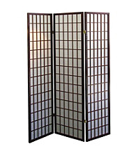 Ore International™ Cherry Panel Room Divider