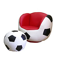 Ore International™ Soccer Chair & Ottoman Set